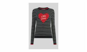 Mon Coeur Heart Stripe Knit