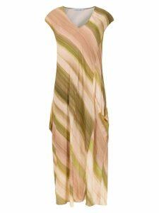 Mara Mac striped midi dress - Neutrals