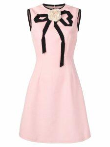 Gucci appliqué rose dress - PINK