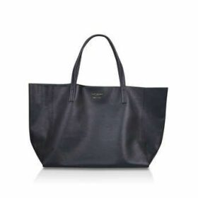 Kurt Geiger London Violet Horizontal Tote - Black Leather Tote Bag