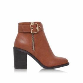 Miss KG Janelle - Tan Block Heel Ankle Boots