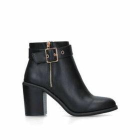 Miss KG Janelle - Black Mid Heel Ankle Boots
