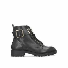 Miss Kg Hatty - Black Flat Lace Up Boots