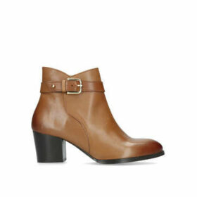 Nine West Calm - Tan Block Heeled Ankle Boots