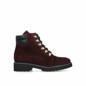 Carvela Stroll - Wine Suede Hiker Boots
