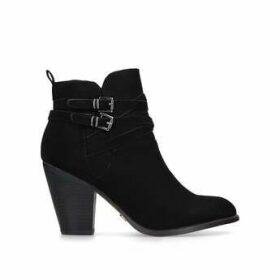 Kg Kurt Geiger Spike2 - Black Block Heel Western Ankle Boots