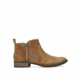Ugg Aureo Boot - Brown Suede Flat Ankle Boots