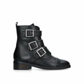 Carvela Sparse - Black Leather Biker Boots