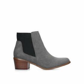 KG Kurt Geiger Spider 2 - Grey Suede Western Ankle Boots