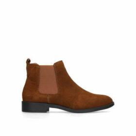 Kg Kurt Geiger Tamsin - Tan Flat Chelsea Boots