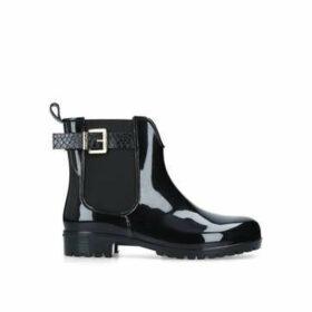 Carvela Wonder - Black Patent Wellington Boots