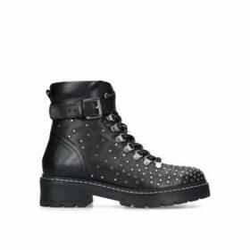 Carvela Shiver - Black Studded Biker Boots