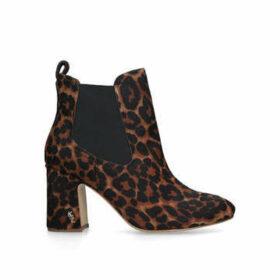 Kurt Geiger London Raylan - Leopard Print Block Heeled Ankle Boots