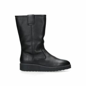 Carvela Toasty - Black Leather Flat Calf Boots
