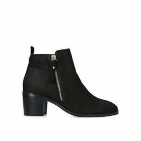 Nine West Charm - Black Leather Ankle Boots