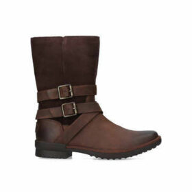 Ugg Lorna Boot - Brown Leather Calf Boots
