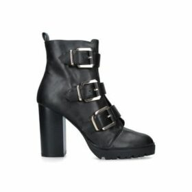 KG Kurt Geiger Tinny - Black Block Heel Biker Boots