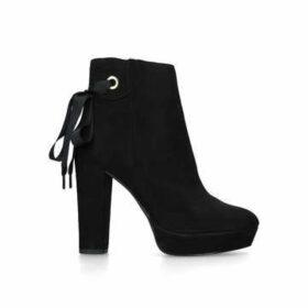 Miss Kg Sheree - Black Suedette Block Heel Ankle Boots