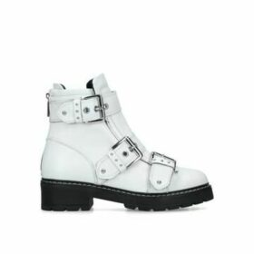 Carvela Sheen - White Leather Biker Boots
