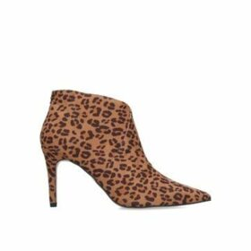 Miss Kg Jiles - Leopard Print Mid Heel Ankle Boots