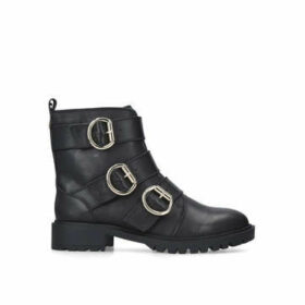 KG Kurt Geiger Tania - Black Leather Biker Boots