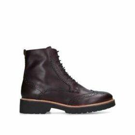 Carvela Snail - Wine Leather Lace Up Hiker Boots