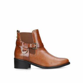 Carvela Saddler - Tan Leather Western Ankle Boots