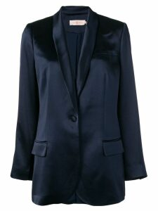 Tory Burch shawl lapel blazer - Blue