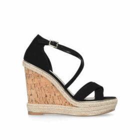Carvela Sublime - Black High Heel Wedge Sandals