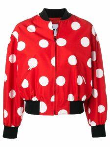 MSGM polka dot bomber jacket - Red