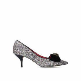Kurt Geiger London Portobello - Rainbow Glitter Mid Heel Court Shoes