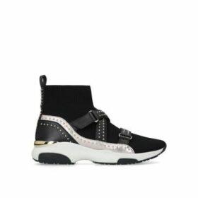 Carvela Listen - Black High Top Sock Trainers
