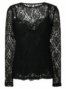 Dolce & Gabbana floral lace top - Black