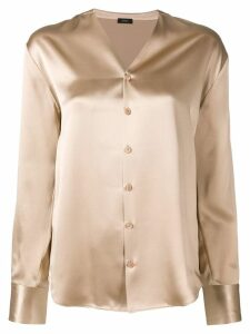 Joseph v-neck blouse - NEUTRALS