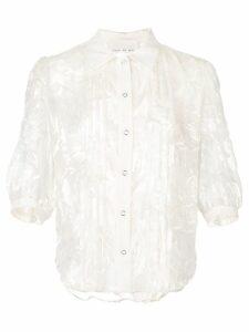 Fleur Du Mal fil coupe pintuck blouse - White