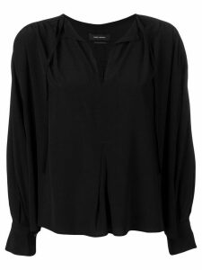 Isabel Marant Amba long-sleeved blouse - Black