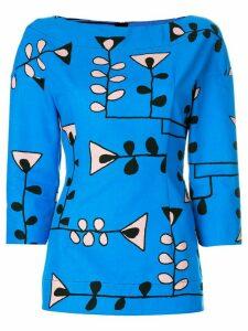 Marni floral print blouse - Blue
