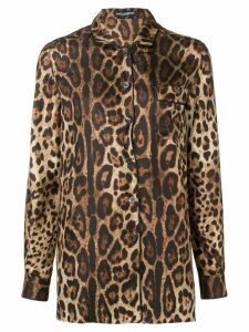 Dolce & Gabbana printed longsleeved blouse - Brown