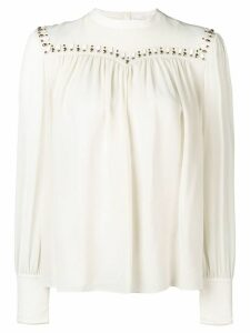 Chloé embellished blouse - Neutrals