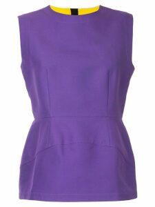 Marni structured peplum blouse - PURPLE