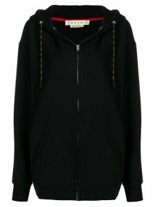 Marni oversized zipped hoodie - Black