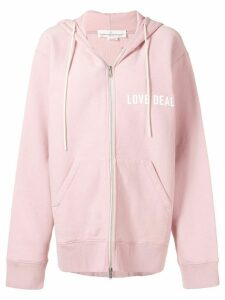 Golden Goose Love Dealer zip-up hoodie - PINK