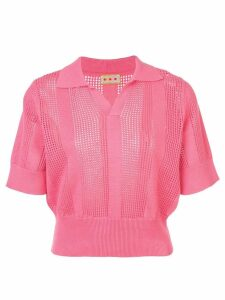 Lhd Le Phare knitted polo - PINK