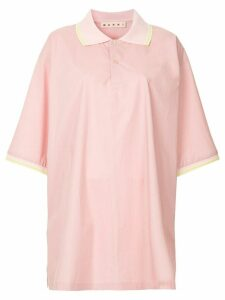 Marni oversized polo shirt - PINK