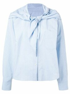 Mm6 Maison Margiela knot detail striped shirt - Blue