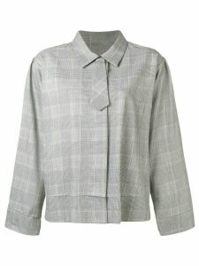 Mm6 Maison Margiela tie detail houndstooth check shirt - Black