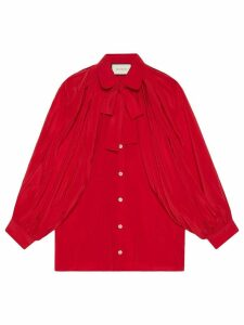 Gucci Silk shirt with neck bow - Red