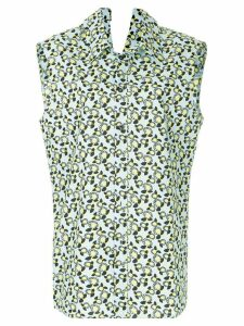 Marni sleeveless floral shirt - Blue
