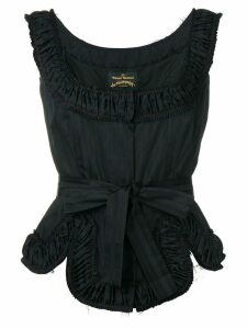 Vivienne Westwood Anglomania Revolution ruched top - Black