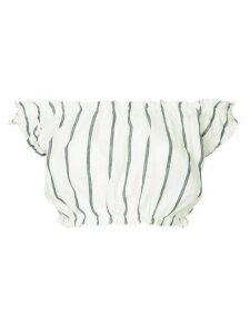 Suboo Eden stripe crop top - White